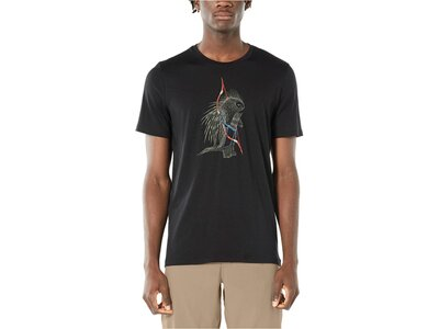"""ICEBREAKER Herren T-Shirt """"Tech Lite Short Sleeve Crewe Quill"""" Schwarz"""