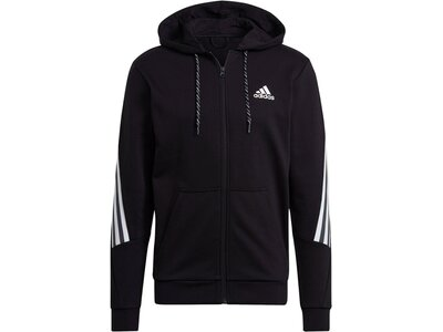 "ADIDAS Herren Sweatjacke ""Sportswear 3-Streifen Tape"" Schwarz"