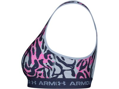 UNDER ARMOUR Damen Sport-BH Armour? Mid Crossback, mit Aufdruck Blau