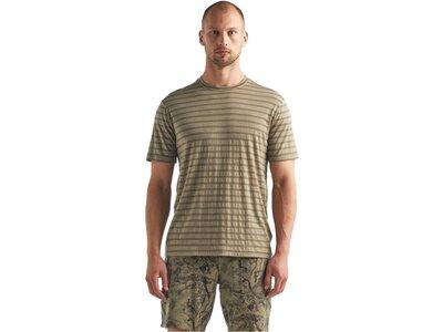 "ICEBREAKER Herren Outdoor-Shirt ""Cool-Lite Merino Utility Explore S/S Crewe Stripe"" Kurzarm Grau"