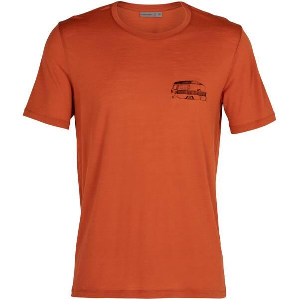 """ICEBREAKER Herren Outdoor-Shirt """"Merino Tech Lite S/S Crewe Caravan Life"""" Kurzarm"""
