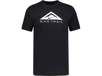 """NIKE Herren Laufshirt """"Dri-Fit Trail Tee"""" Kurzarm Schwarz"""