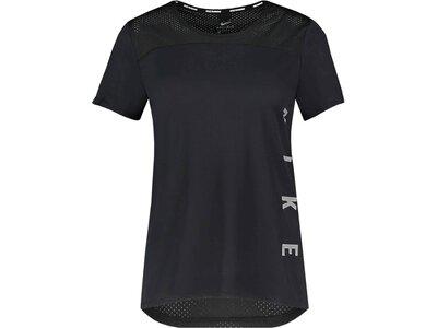 """NIKE Damen Laufshirt """"Miler Run Divison"""" Kurzarm Schwarz"""