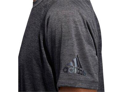 "ADIDAS Herren Fitness-Shirt ""Freelift 360"" Kurzarm Grau"