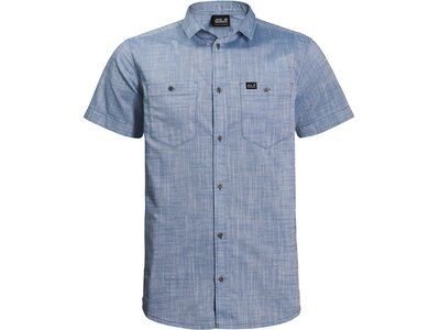 "JACKWOLFSKIN Herren Hemd ""Emerald Lake Shirt M"" Kurzarm Grau"