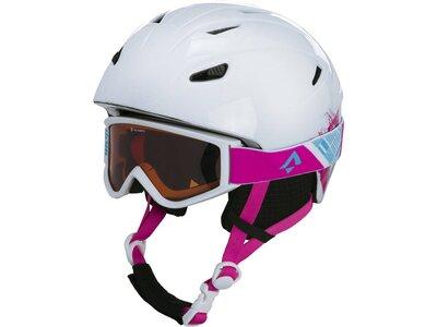 "TECNOPRO Kinder Skihelm ""Pulse HS-016"" mit Skibrille ""Freeze 2"" Weiß"