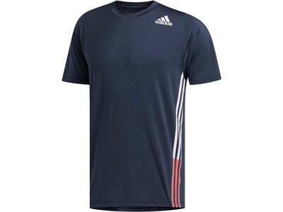 "ADIDAS Herren Trainingsshirt ""FreeLift"" Kurzarm Blau"