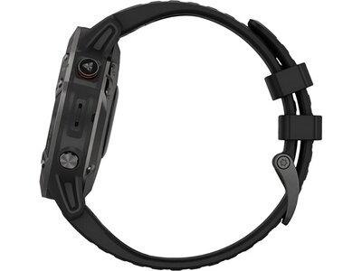 """GARMIN GPS-Multifunktionsuhr """"Fenix 6 Sapphire """" Schwarz/Schiefergrau DLC Schwarz"""