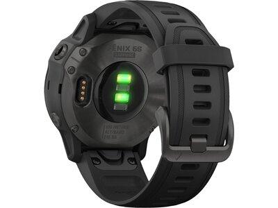 """GARMIN GPS-Multifunktionsuhr """"Fenix 6S Sapphire"""" Schwarz/Schiefergrau DLC Schwarz"""