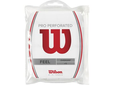 WILSON Tennis Griffband Pro Overgrip Perforated 12er Pack Weiß