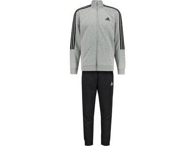 adidas Herren AEROREADY Essentials 3-Streifen Trainingsanzug Grau