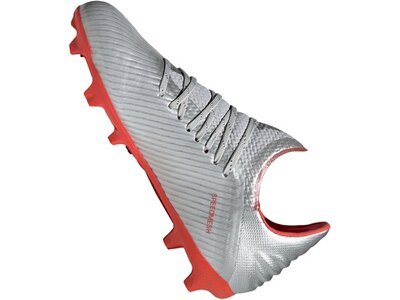 ADIDAS Fußball - Schuhe Kinder - Nocken X Uniforia 19.1 FG J Kids Silber
