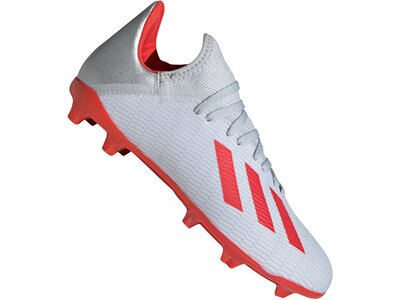 ADIDAS Fußball - Schuhe Kinder - Nocken X Uniforia 19.3 FG J Kids Silber