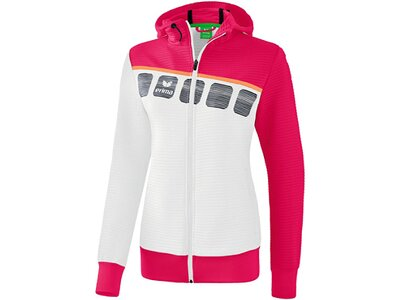 ERIMA Fußball - Teamsport Textil - Jacken 5-C Trainingsjacke mit Kapuze Damen Weiß
