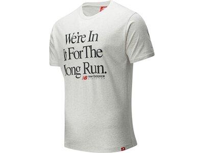 NEWBALANCE Lifestyle - Textilien - T-Shirts Essentials Icon Long Run T-Shirt Silber