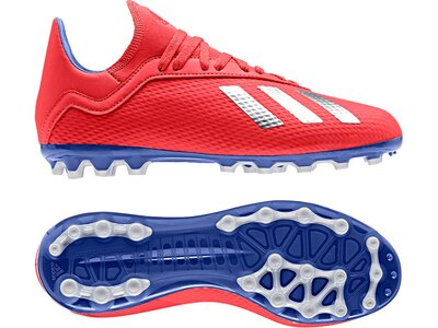 ADIDAS Fußball - Schuhe Kinder - Kunstrasen X 18.3 AG J Kids Rot