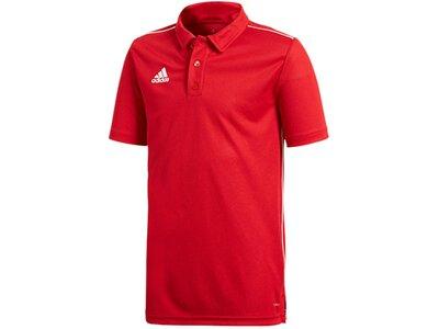adidas Kinder Core 18 Climalite Poloshirt Rot