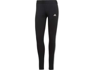 adidas Damen LOUNGEWEAR Essentials 3-Streifen Leggings Schwarz
