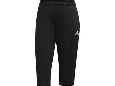 ADIDAS Fußball - Teamsport Textil - Hosen Tiro 21 3/4 Trainingshose Dunkel Schwarz