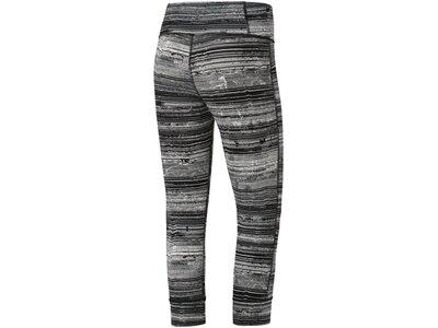 REEBOK Damen Lux 3/4 Tight – Stratified Stripes Schwarz