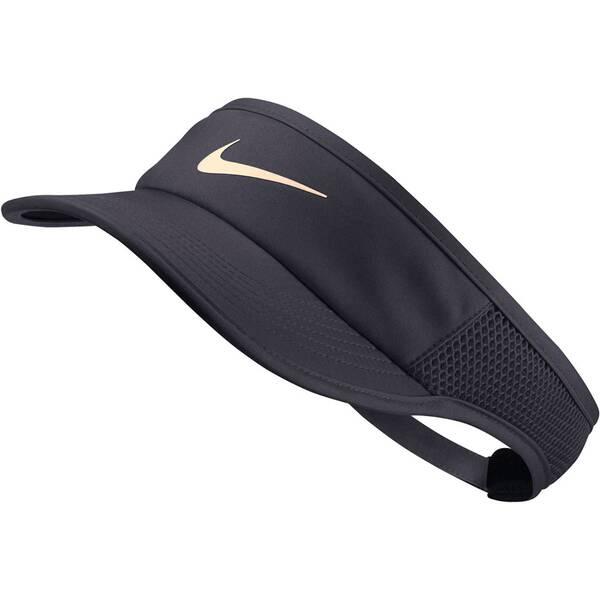 NIKE Damen Tennis Visor Aerobill   Accessoires > Caps > Visors   Black   NIKE