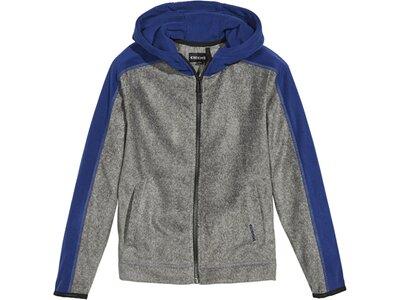 CHIEMSEE Fleece Jacke mit PlusMinus Rückenprint Grau