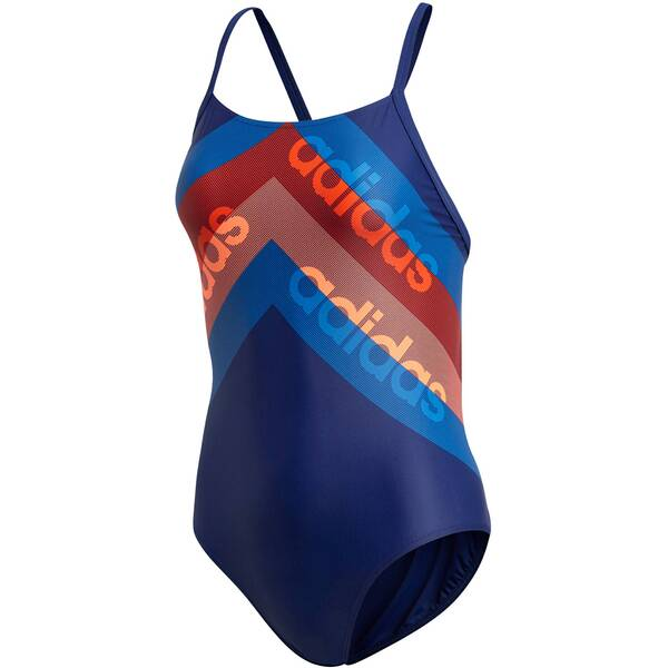 Bademode - ADIDAS Damen Badeanzug Fitness Training Suit Lineage › Braun  - Onlineshop Intersport