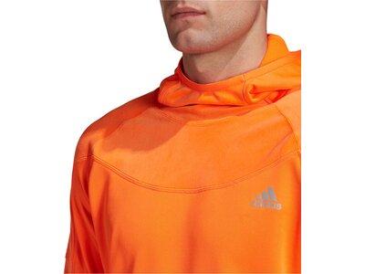 "ADIDAS Herren Laufsweatshirt ""Own The Run Warm Hoodie"" Orange"