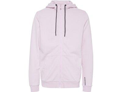 CHIEMSEE Sweatjacke einfarbig mit Logo auf dem Rücken Weiß