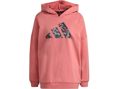 ADIDAS Damen Sweatshirt mit Kapuze Oversized Pink