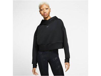 "NIKE Damen Trainings-Sweatshirt ""Pro"" Schwarz"