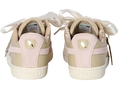 "PUMA Damen Sneaker ""Basket Heart Coach"" Gold"
