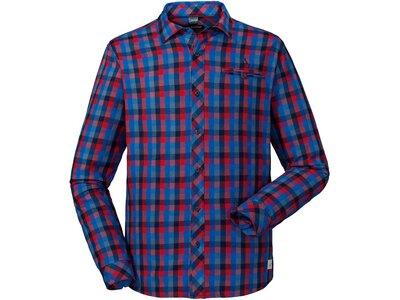 SCHÖFFEL Herren Wanderhemd Stockholm2 Comfort Fit Langarm Blau