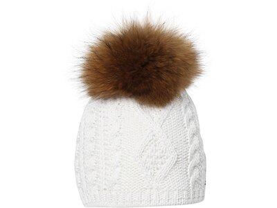 EISBÄR Damen Mütze Nelia Fur MÜ Weiß