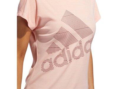 ADIDAS Damen Fitness-Shirt Logo Tee Rot