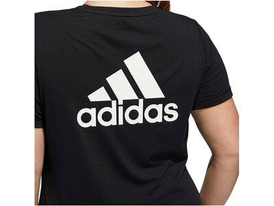 "ADIDAS Damen Trainingsshirt ""Go To Tee"" - Plus Size Schwarz"