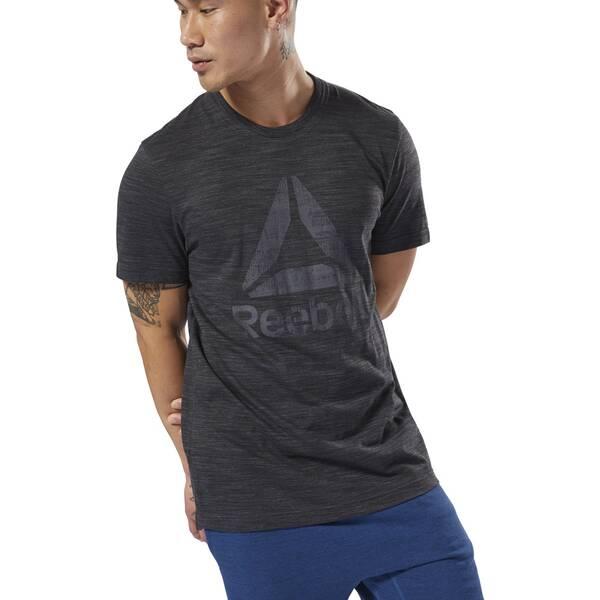 REEBOK Herren Elements Marble Melange T-Shirt