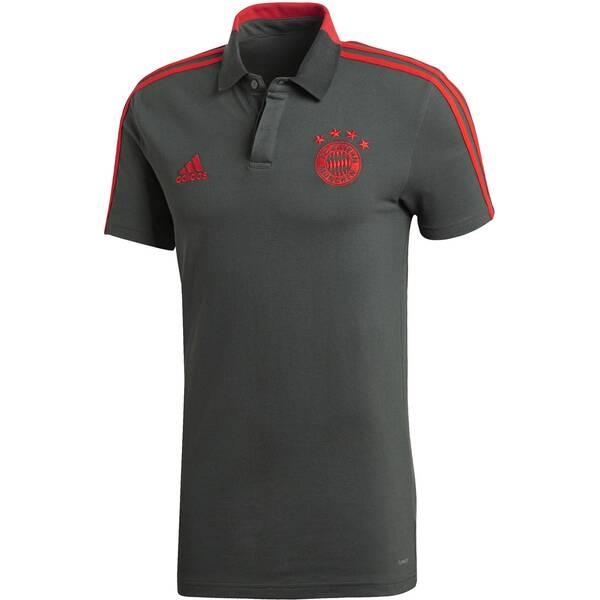 ADIDAS Herren Fußball Poloshirt FC Bayern München Kurzarm Saison 2018/19
