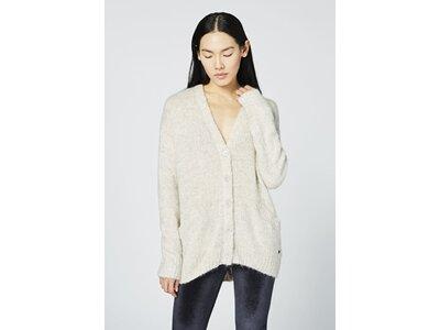 CHIEMSEE Oversize Strickjacke aus Mohair-Merino-Qualität Weiß