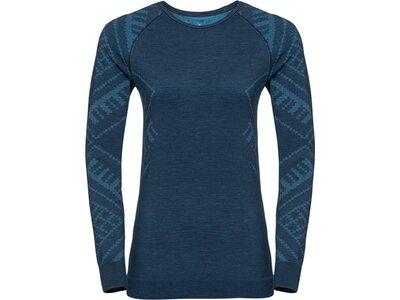 "ODLO Damen Funktionsunterhemd ""Natural + Kinship Warm SUW"" Langarm Blau"