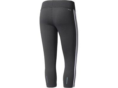 ADIDAS Damen Trainingshose / Fitnesshose D2M Three-Quarter 3-Streifen Tight Braun