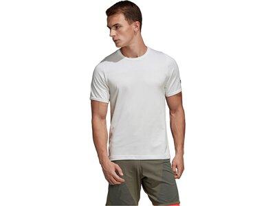 "ADIDAS Herren Trainingsshirt ""Freelift 360 Primeknit"" Kurzarm Weiß"