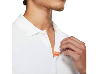 NIKE Herren Tennis-Poloshirt Slim Fit Kurzarm Weiß