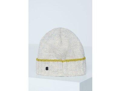 CHIEMSEE Mütze mit Kontrast-Ringel Muster Weiß