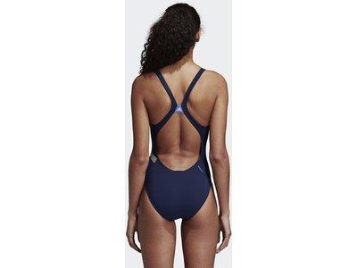 ADIDAS Damen Placed-Print Badeanzug Schwarz
