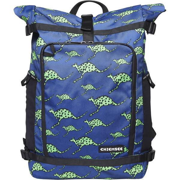 CHIEMSEE Rucksack mit zwei flexiblen Netztaschen an der Seite Blau