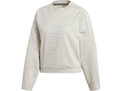 ADIDAS Damen Fitness-Sweater Weiß