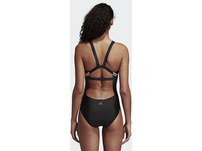 ADIDAS Damen Placed-Print Support Badeanzug Schwarz