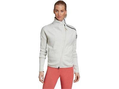 """ADIDAS Damen Sweatjacke """"Z.N.E. Heartracer Jacket Primeknit"""" Weiß"""