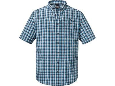 SCHÖFFEL Herren Berghemd Kuopio2 Kurzarm Blau